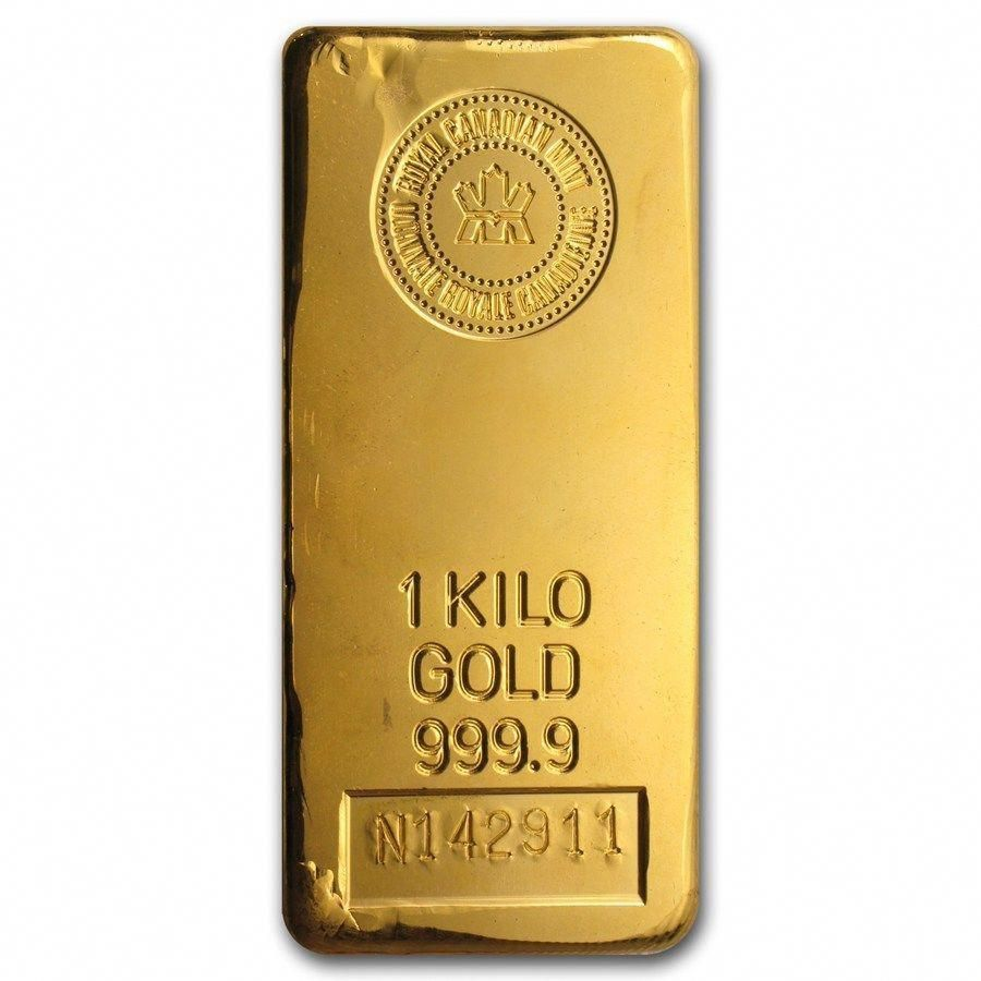 1 Kilo Gold Bar Royal Canadian Mint Rcm Sku 43292 Gold Goldbar Goldinvesting