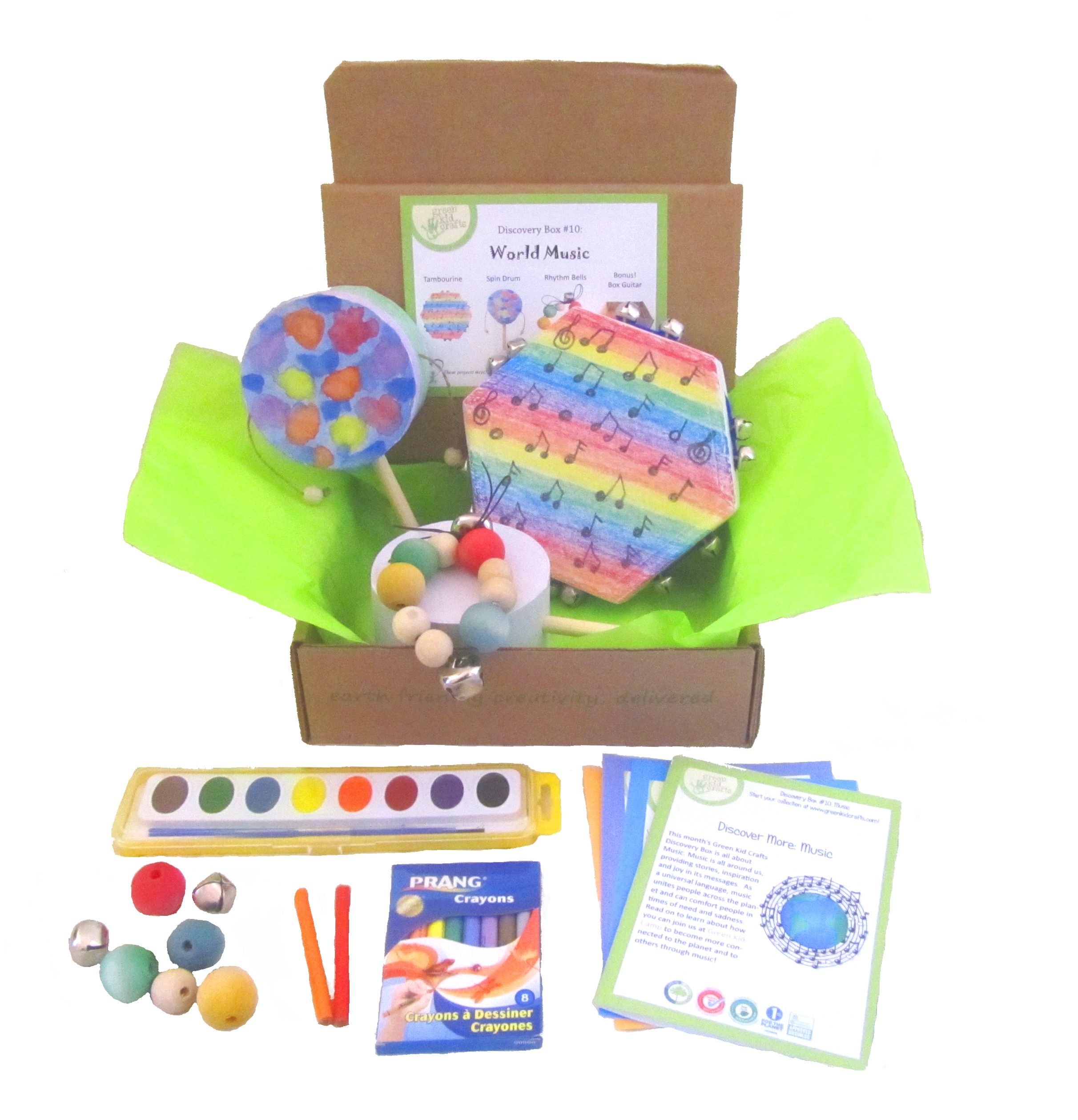 10++ Green kid crafts discovery box ideas