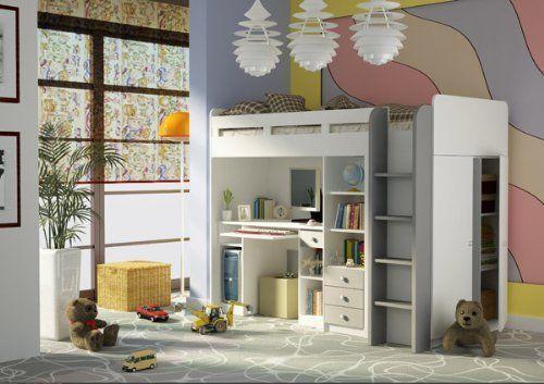 Kombination aus Bett Schrank und Schreibtisch 27XD1T03 Combi ...