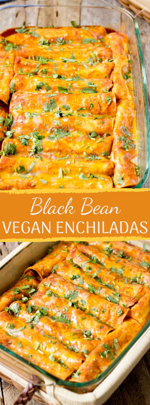 Black Bean Vegan Enchiladas Easyrecipe Meatless In 2020 Vegan Enchiladas Vegetarian Enchiladas Vegan Dinners