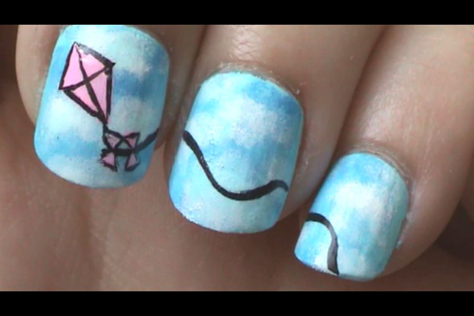 Kite nail art | Summer nails☀ | Pinterest | Kites