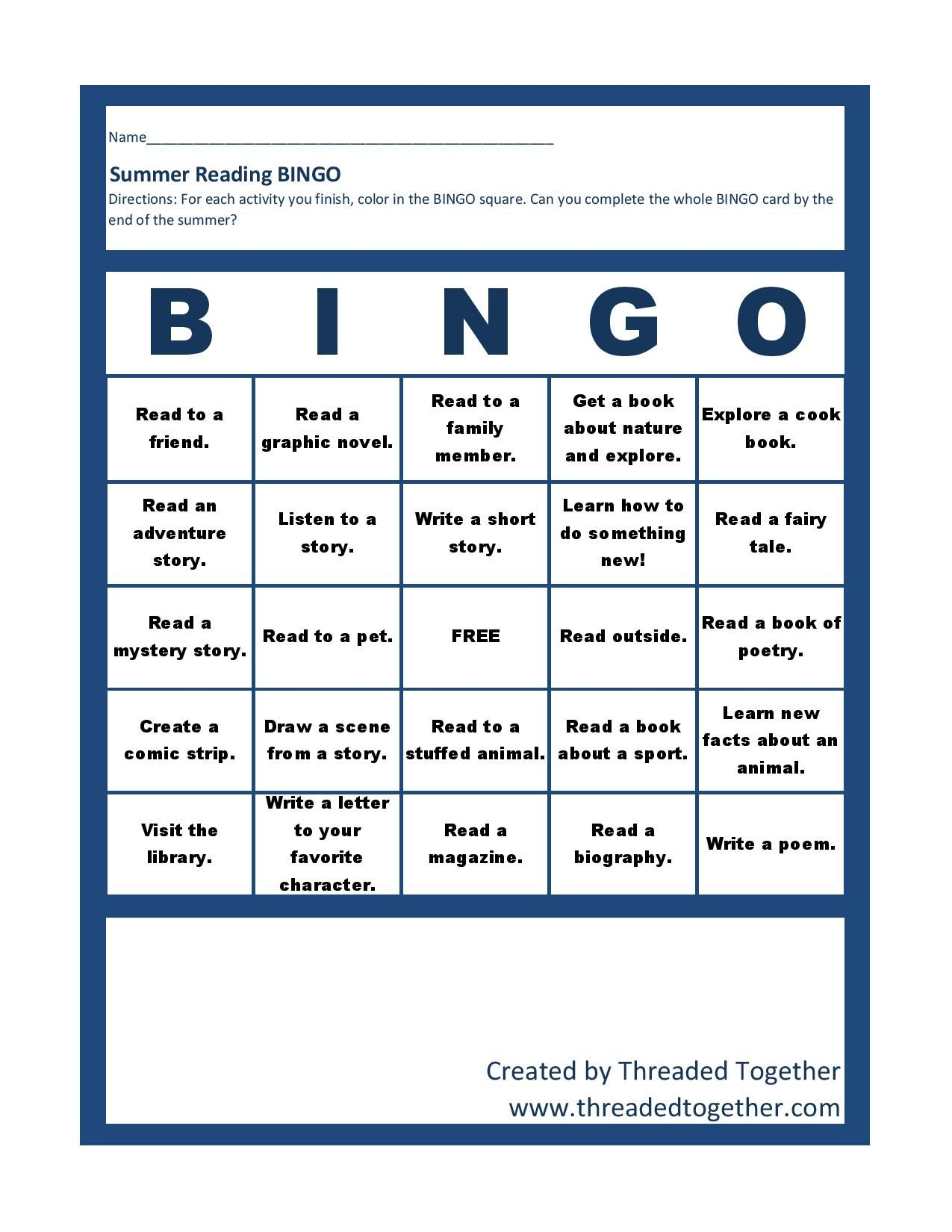 Summer Reading At The Library A Printable Game Board And
