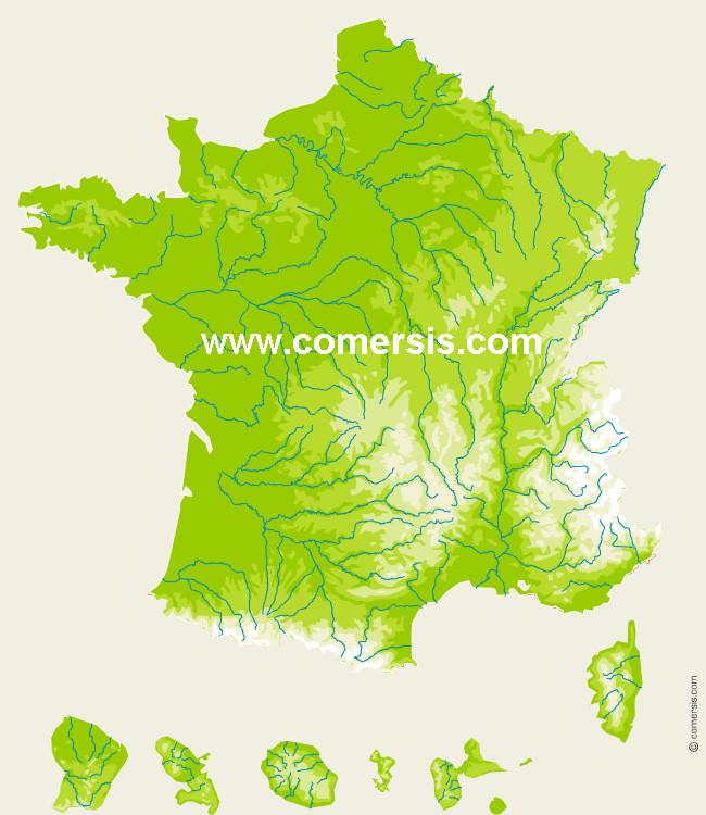 Carte D'anniversaire Relief Awesome Carte Relief De France ...