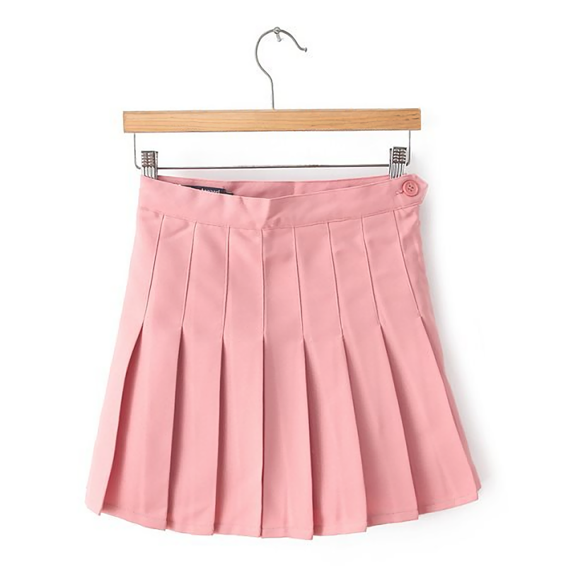 Strawberry Sherbet Skirt In 2020 Womens Pleated Skirt Pink Pleated Skirt High Waisted Pleated Skirt