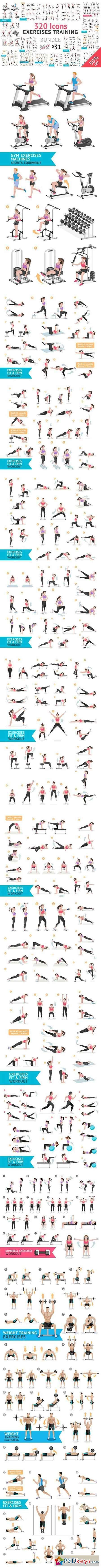 Fitness Aerobic and Exercises Icons 1063017,  #aerobic #Exercises #exercisesicon #FITNESS #Icons