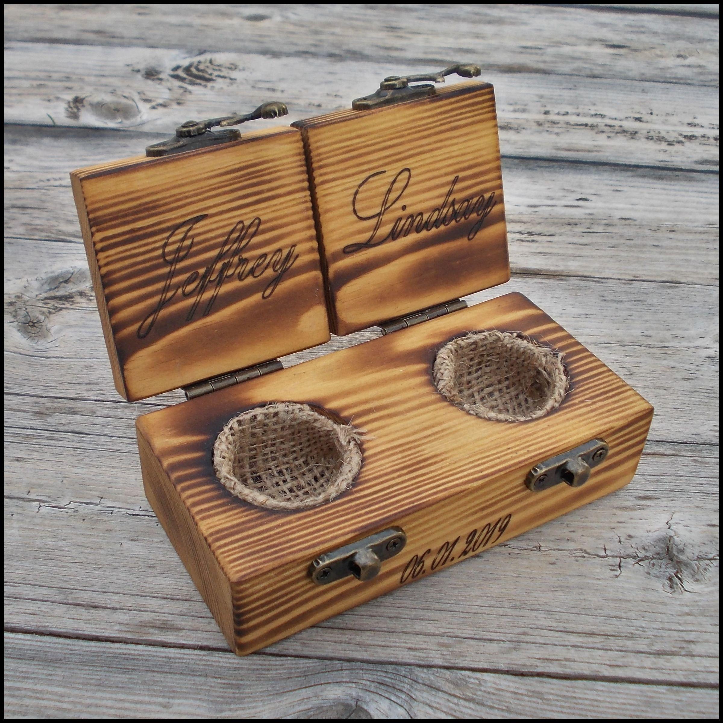 Ring Bearer Box Wedding Ring Box Wedding Ring Holder Rustic Wood Ring Box Vintage Wood Ring Box Proposal Ring Box Wedding Ring Holder Wood Ring Box Wedding Wooden Ring Box Wedding