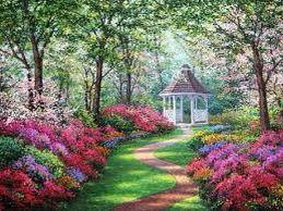 jardines flores camino primavera pequeos jardines hermosos jardines chalets gazebo bsqueda