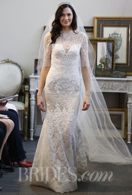Watters - Fall 2013 | Illusion neckline, Wedding dress and Wedding