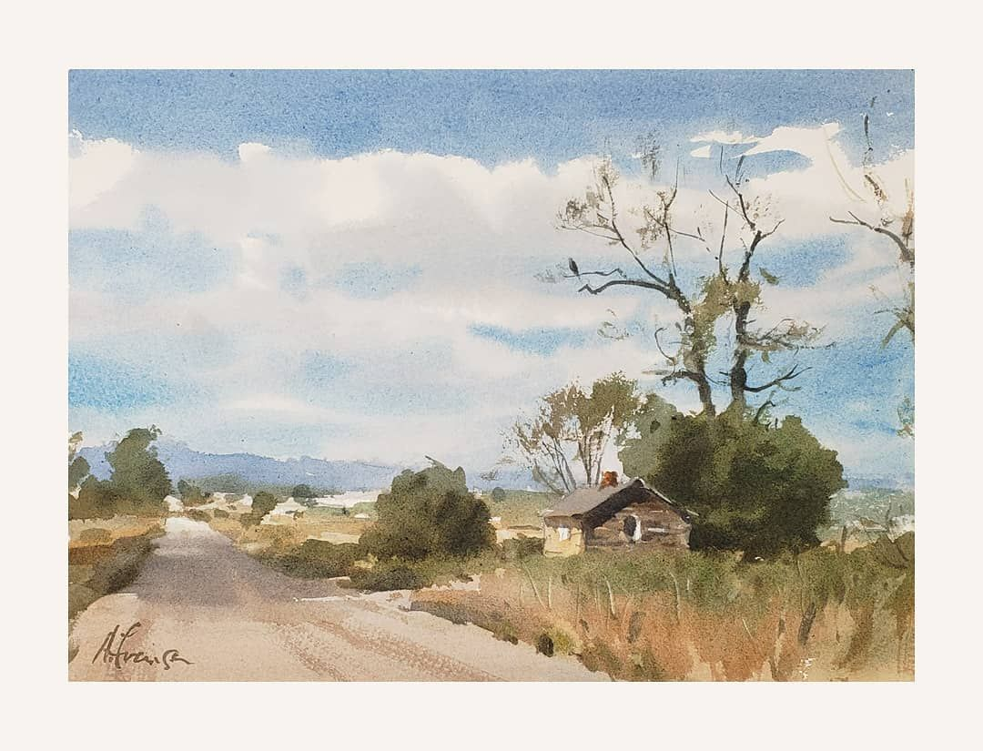 Andy Evansen Colorado It Was A Balmy 102 Degrees That Day And What I Remember Besides Begging For One Of The Cloud Aquarellmalerei Malerei Aquarell