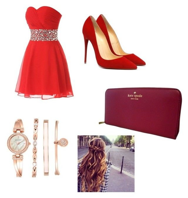 """""""party dress"""" by mariahgee on Polyvore featuring Kate Spade and Anne Klein"""