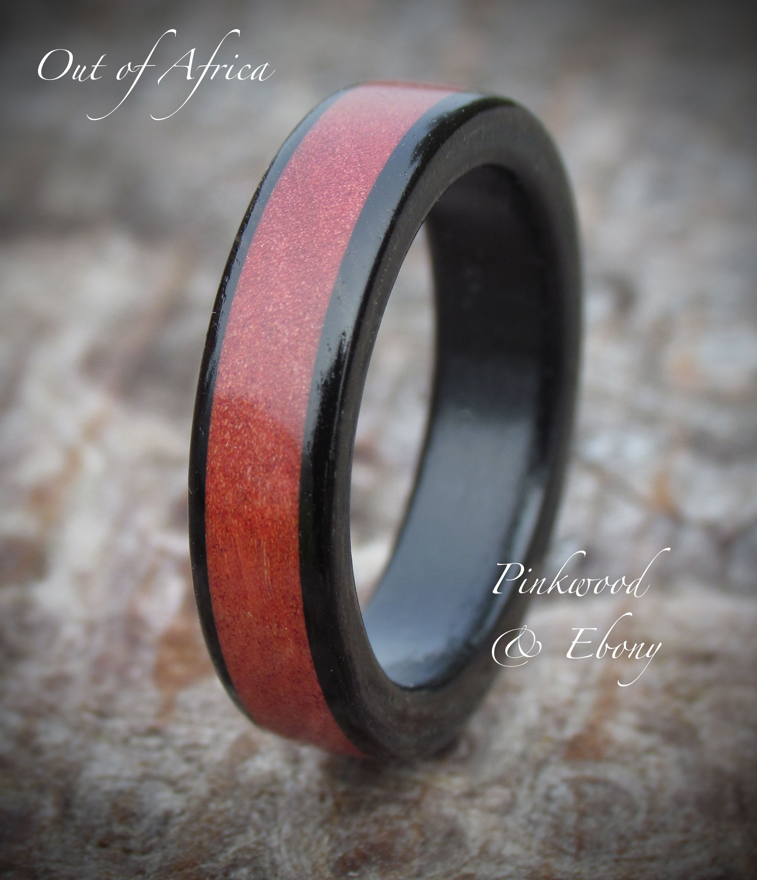 Out Of Africa Wooden Ring Handcrafted From Ebony Pinkwood Perfect As A Wedding: African Wood Wedding Rings At Reisefeber.org