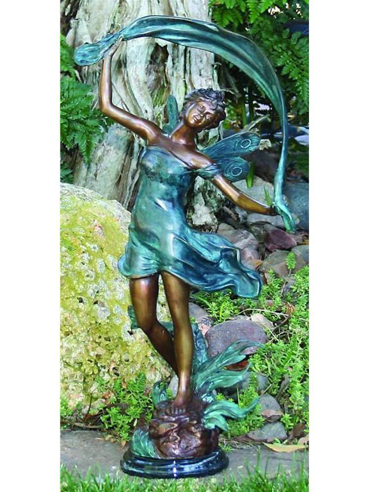 Ordinaire Dancing Fairy Brass Garden Statue