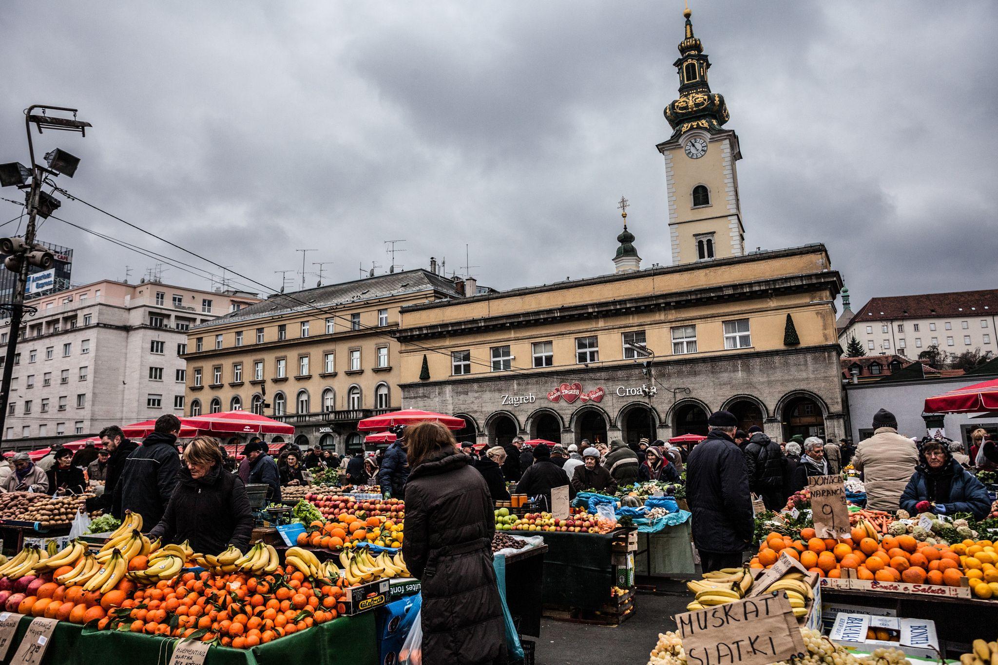 Dolac Market Dolac Pronounced Dɔ Lat S Is A Farmers Market Located In Gornji Grad Medvescak City District Of Zagreb Croat Dolac Croatia Local Farmers