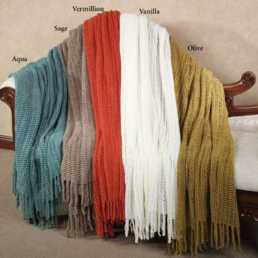 84dad8ee6d6 Fringed Acrylic Throw Blankets- Porch Swing