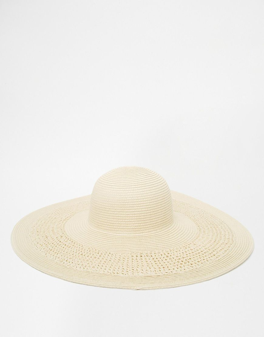 63fc41c2070 Image 3 of ASOS Oversized Straw Hat With Crochet Insert