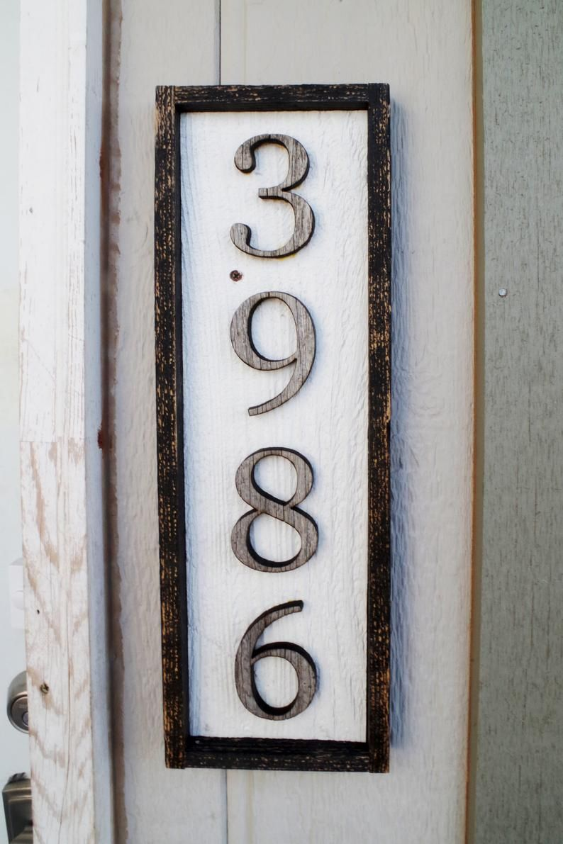 Rustic House Numbers Sign Address Number And Letter Plaque