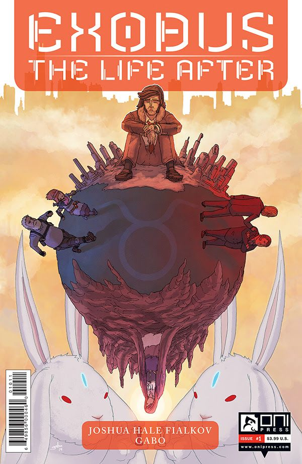 Fialkov and Gabo's Critically Acclaimed Tale Returns in November as EXODUS: THE LIFE AFTER, JOSHUA HALE FIALKOV AND GABO'S CRITICALLY ACCLAIMED TALE RETURNS ONNOVEMBER 4THASEXODUS: THE LIFE AFTER HEAVEN AND HELL WILL FALL. JUDE, ESSIE,...,  #All-Comic #Exodus:TheLifeAfter #FrancescoFrancavilla #Gabo #JoshuaHaleFialkov #OniPress #TheBlackBeetle #TheLifeAfter