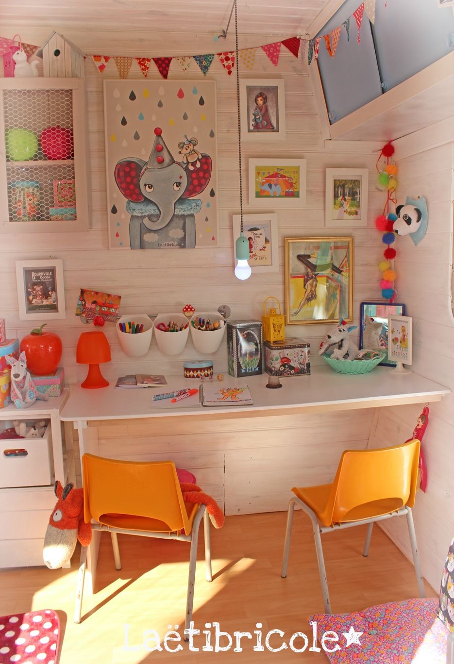 La vie de boh me laetibricole caravanes pinterest caravane cabane enfant et cabane - Chambre enfant pinterest ...
