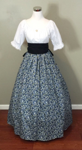 Details about Blue Civil War Victorian Renaissance Southern Belle Colonial Dress Gown Costume #dressesfromthesouthernbelleera