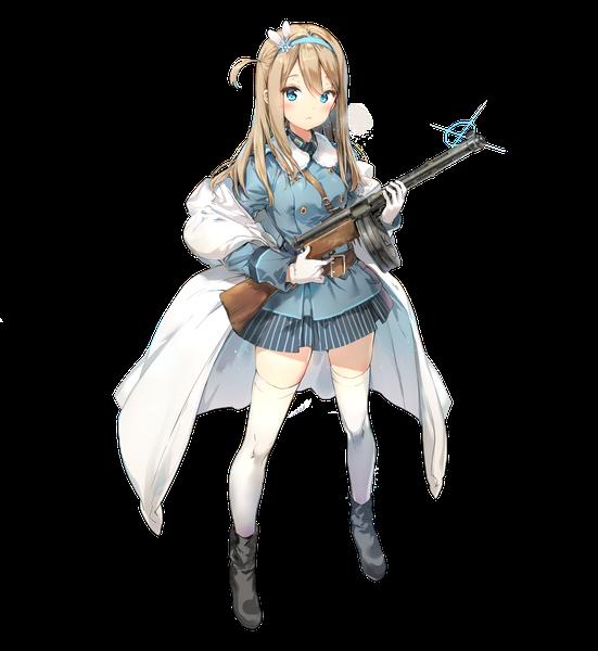 Military blonde girl with gun Kawai Anime girl Soldier