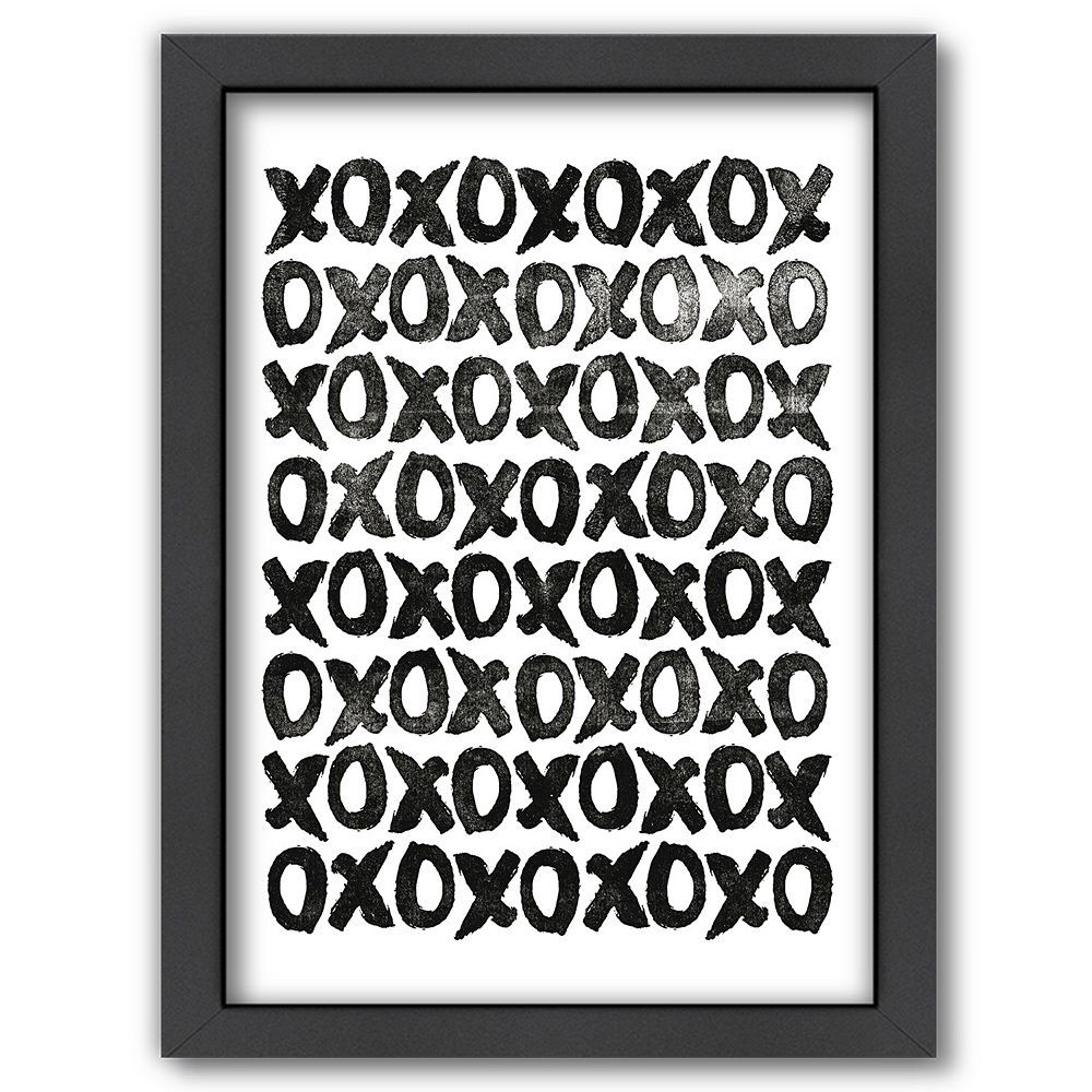 Americanflat ''xoxoxo'' Framed Wall Art, Multicolor