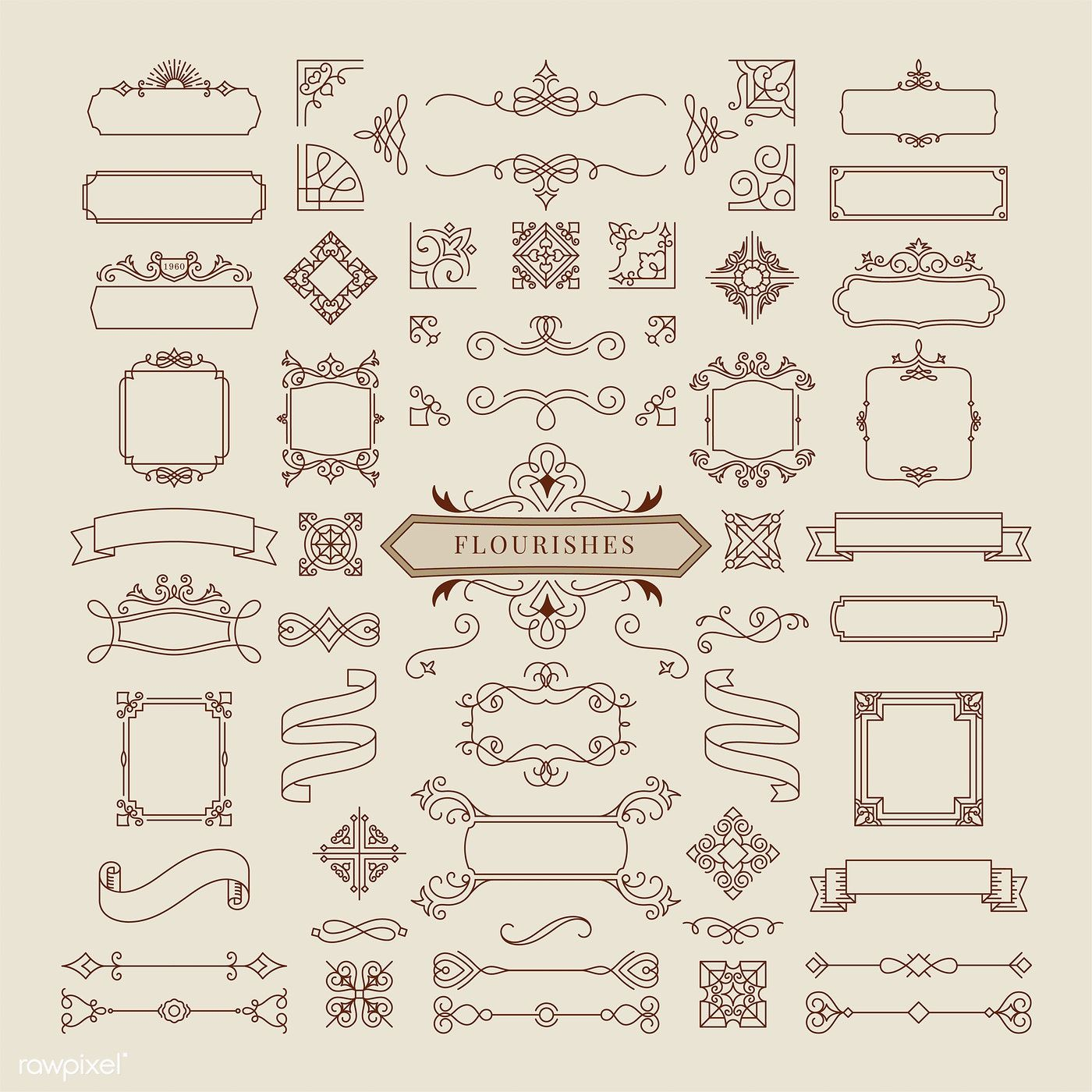 Collection Of Vintage Ornament Frame Illustration Free Image By Rawpixel Com Ornament Frame Vector Free Free Graphic Design