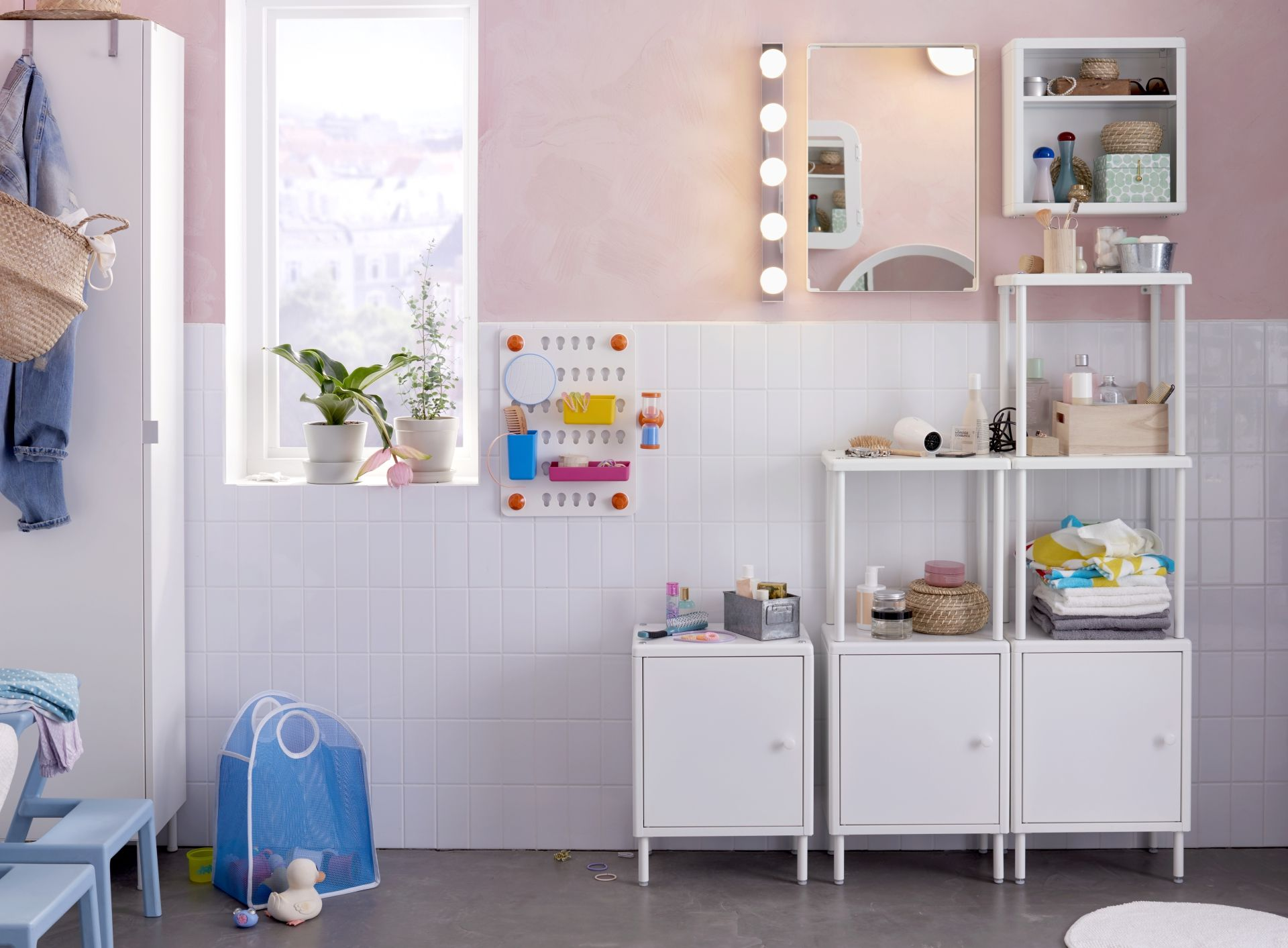 Badkamer Dekor Idees : Dynan open kast met 2 kasten wit bathroom pinterest ikea diy