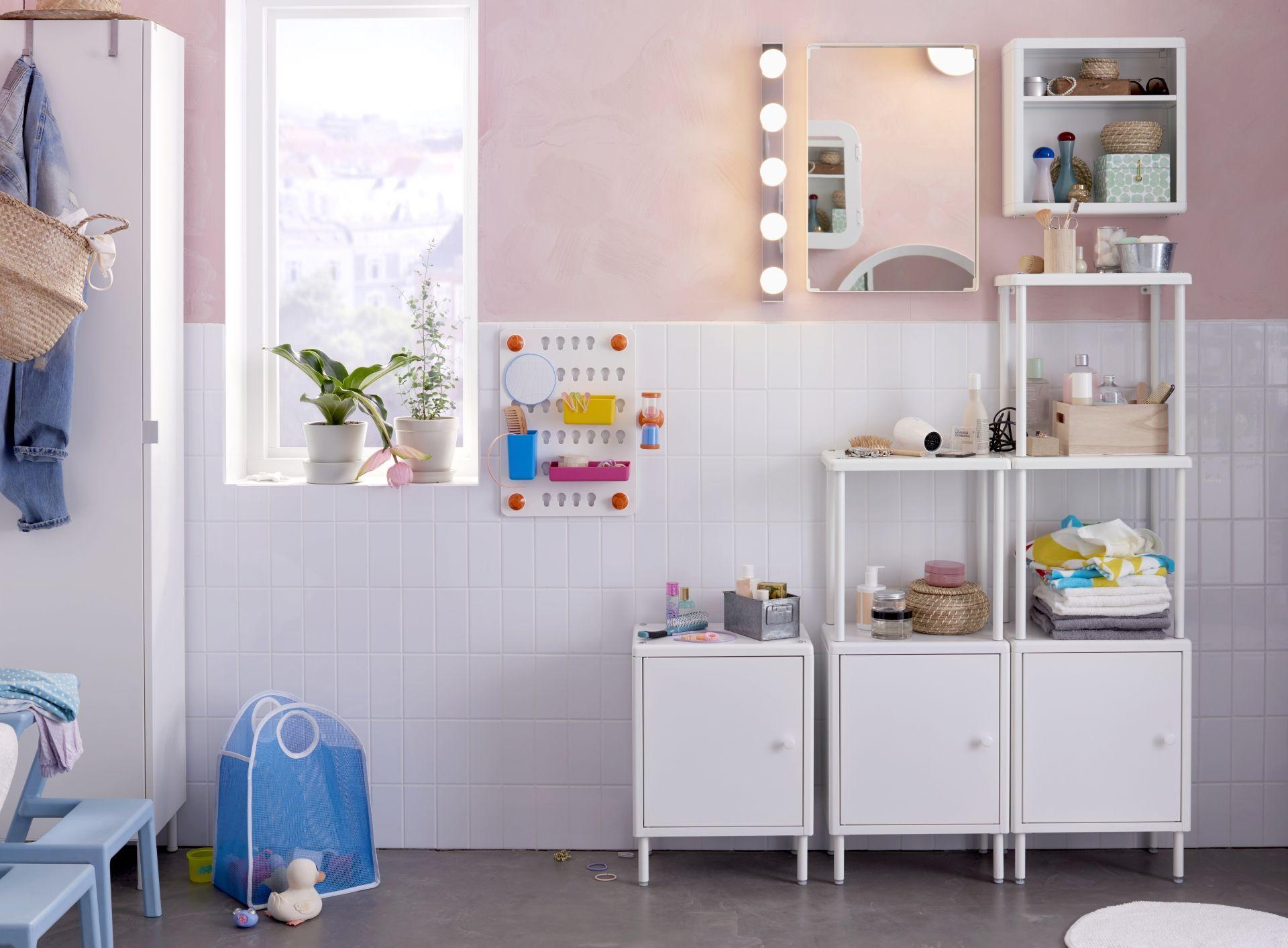 DYNAN Open kast met 2 kasten, wit   Apartments