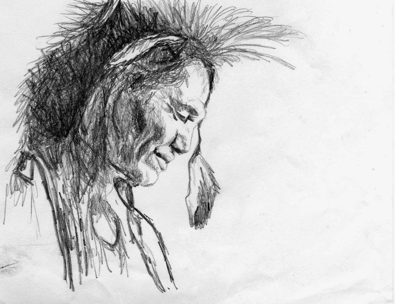 indian sketches native american indian art