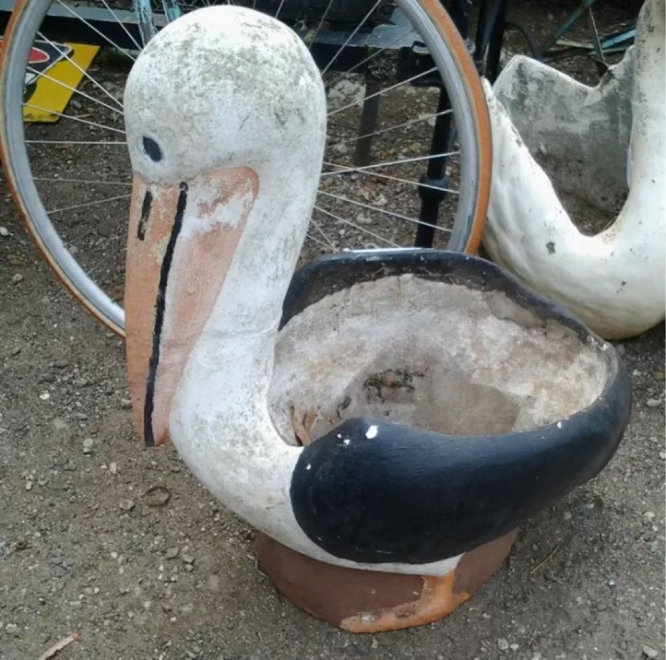 Pin Concrete Swan Swans Garden