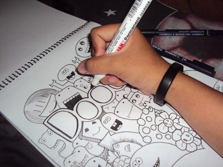 Gambar Doodle Yang Ada Tulisan Nama- Cara Membuat Gambar ...