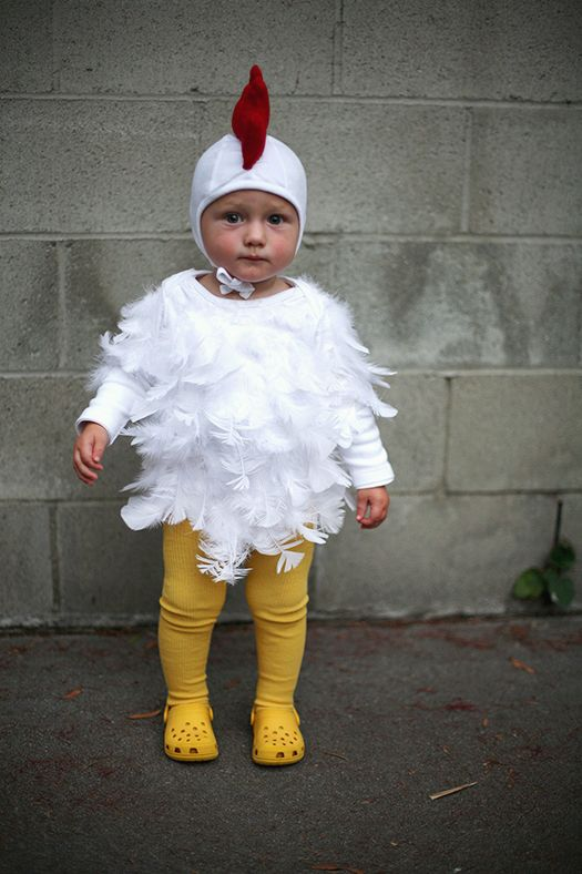 diy baby chicken costume halloween 2013 lovely morning bebes pinterest baby chicken. Black Bedroom Furniture Sets. Home Design Ideas