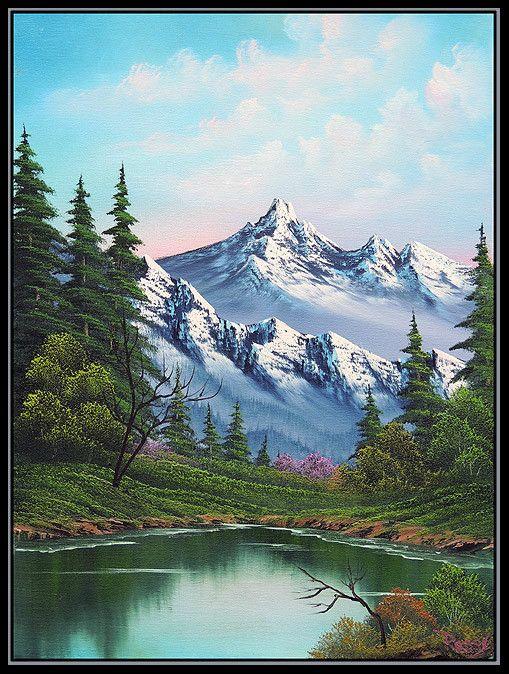 A Happy Little Bob Ross Painting Goes Up On Ebay Peyzaj Duzenlemesi Fikirleri Resimler Manzara Resimleri