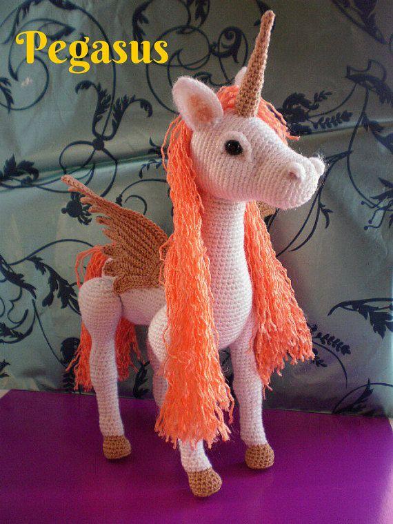 Horse Unicorn & Pegasus 3-in-1 PDF Crochet Pattern Instant ...