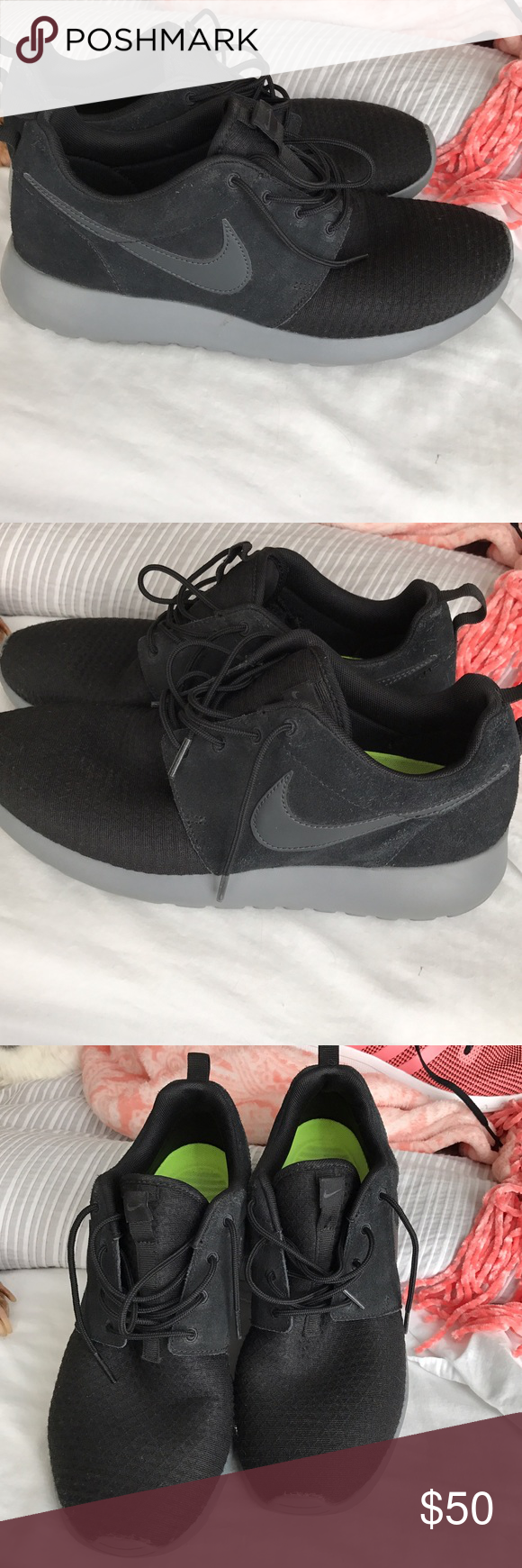 Nike Roshe shoes Shoes that every one will compliment! Rare color. Women's size 10 Nike Shoes Athletic Shoes