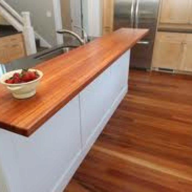 Basement Bar Butcher Block Counter Top Countertop Design Diy