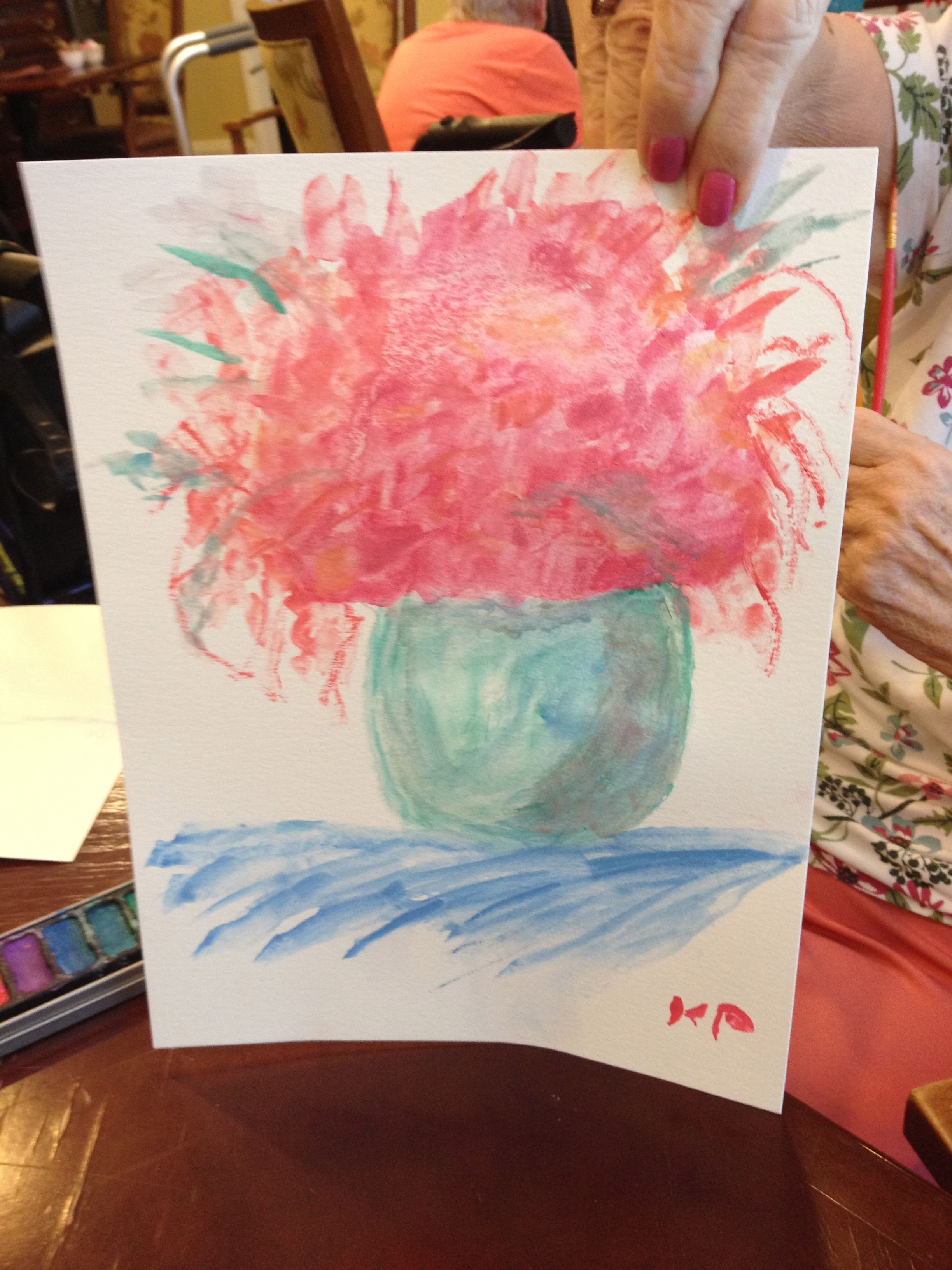 Watercolor Still Life With Seniors Painting Crafts Craft Classes