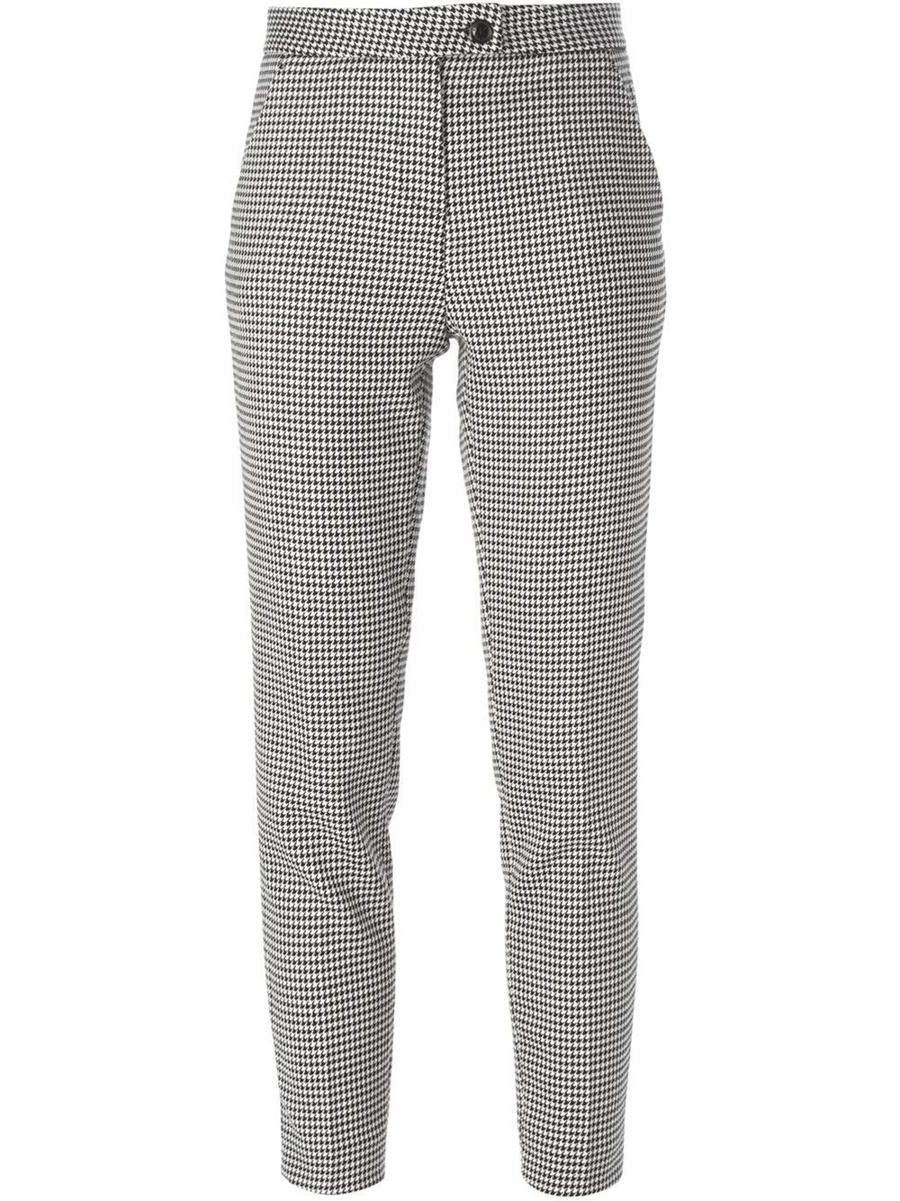 Boutique Moschino Houndstooth Tapered Trousers - Changing Room - Farfetch.com
