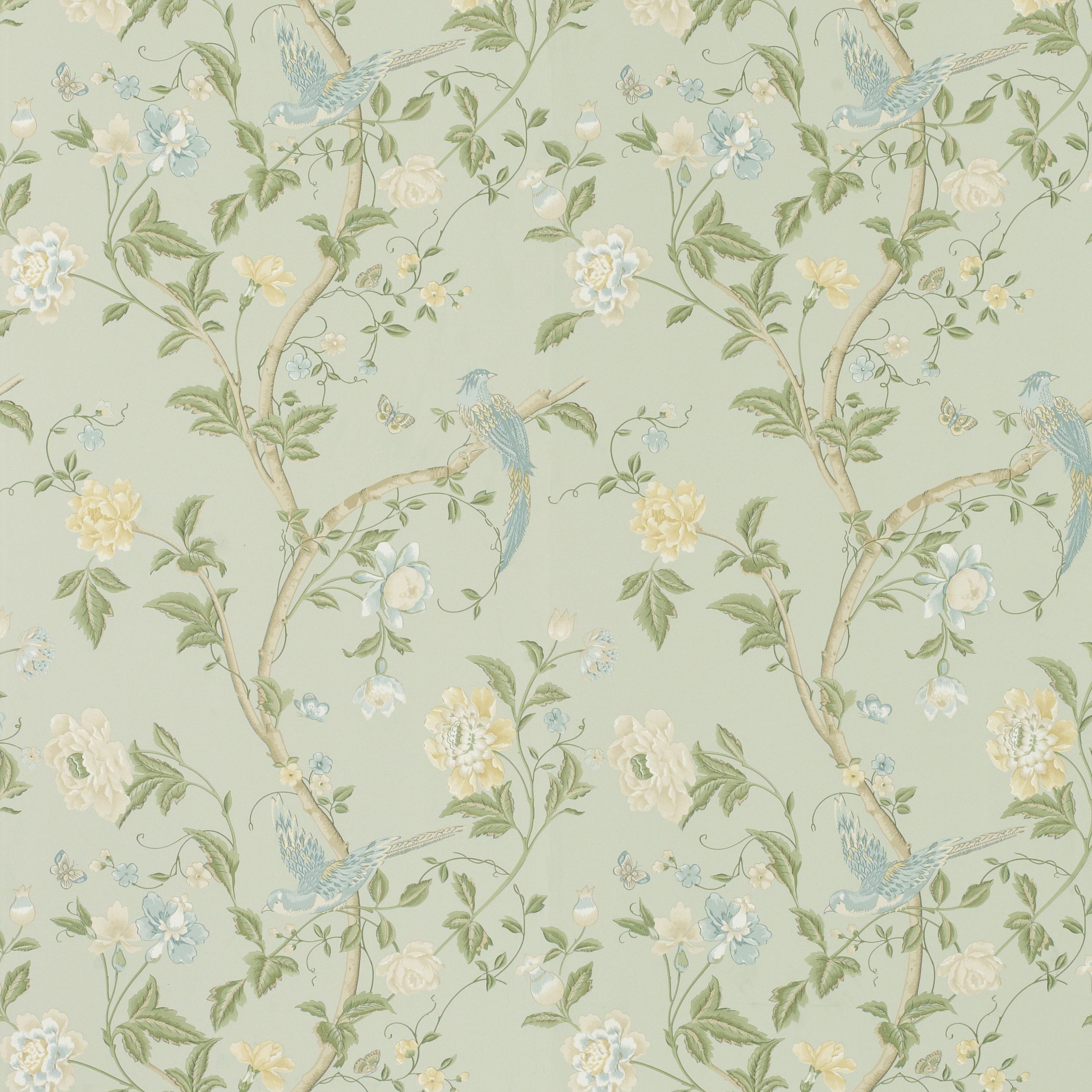 Laura Ashley Summer Palace Wallpaper   Tempted To Use This To Up Cycle A  Chest Of Drawers Sitting Forlornly In The Garage.