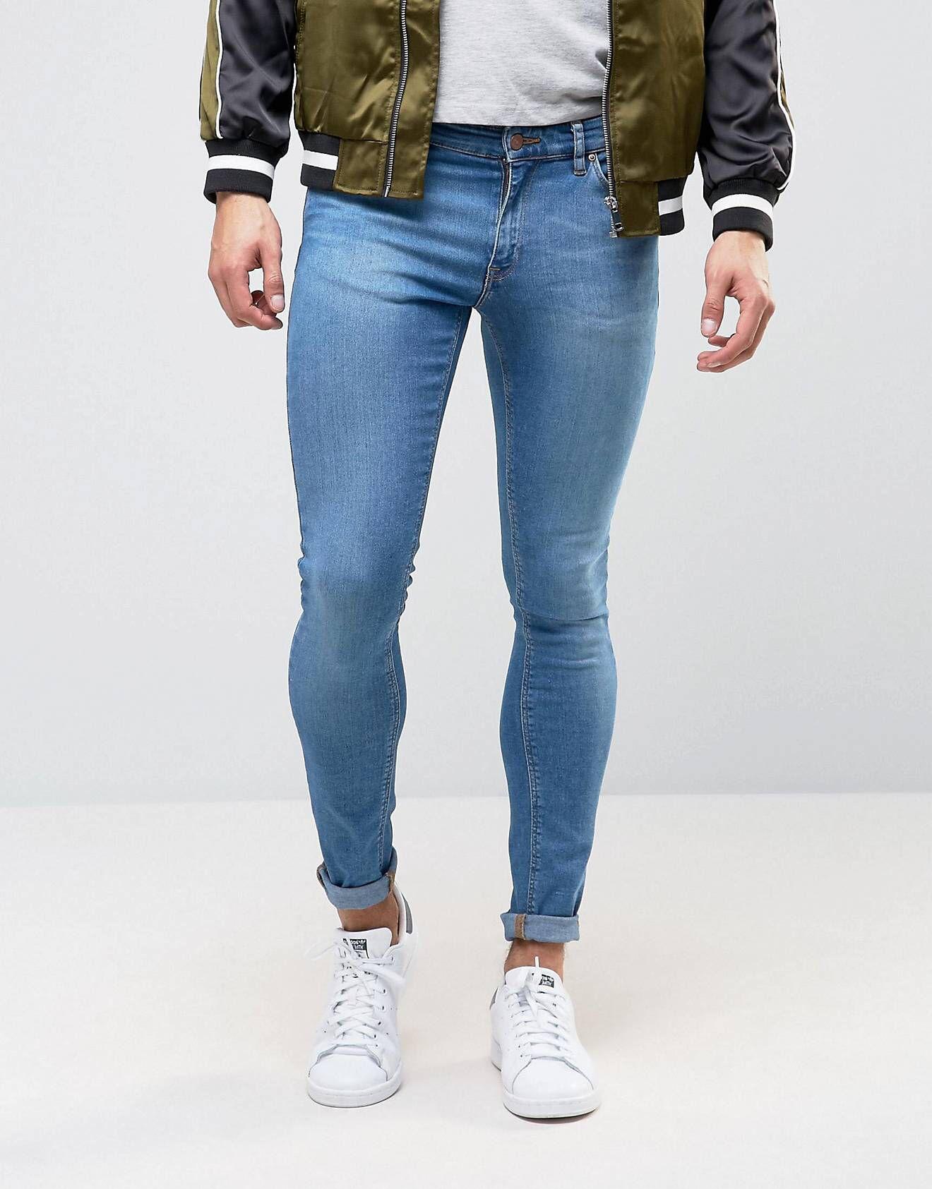 bester Verkauf ungeschlagen x Outlet zu verkaufen DESIGN – Extrem enge Jeans in Mittelblau | Skinny & Tight ...