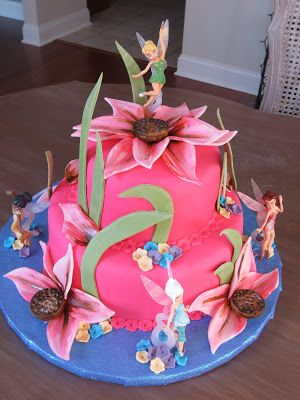 Tinkerbell Cake Lapatisserierose Party Theme Art Favorite Recipes