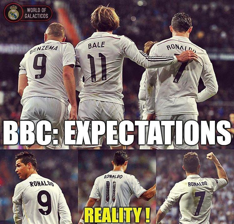 Bbc Expectations Vs Reality Funny Soccer Memes Soccer Memes Soccer Funny