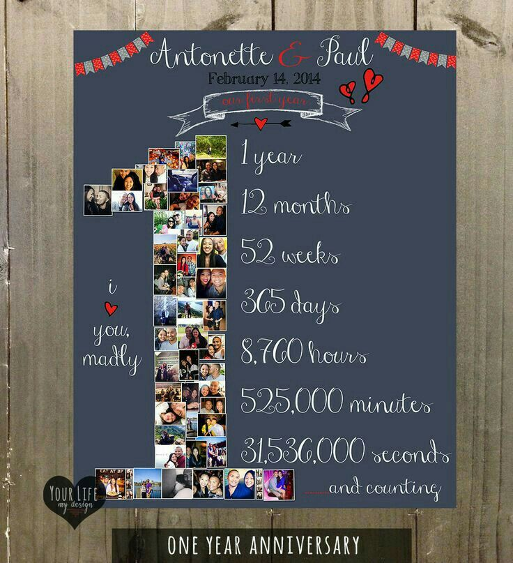 One Year Anniversary Diy Projects Pinterest Anniversaries