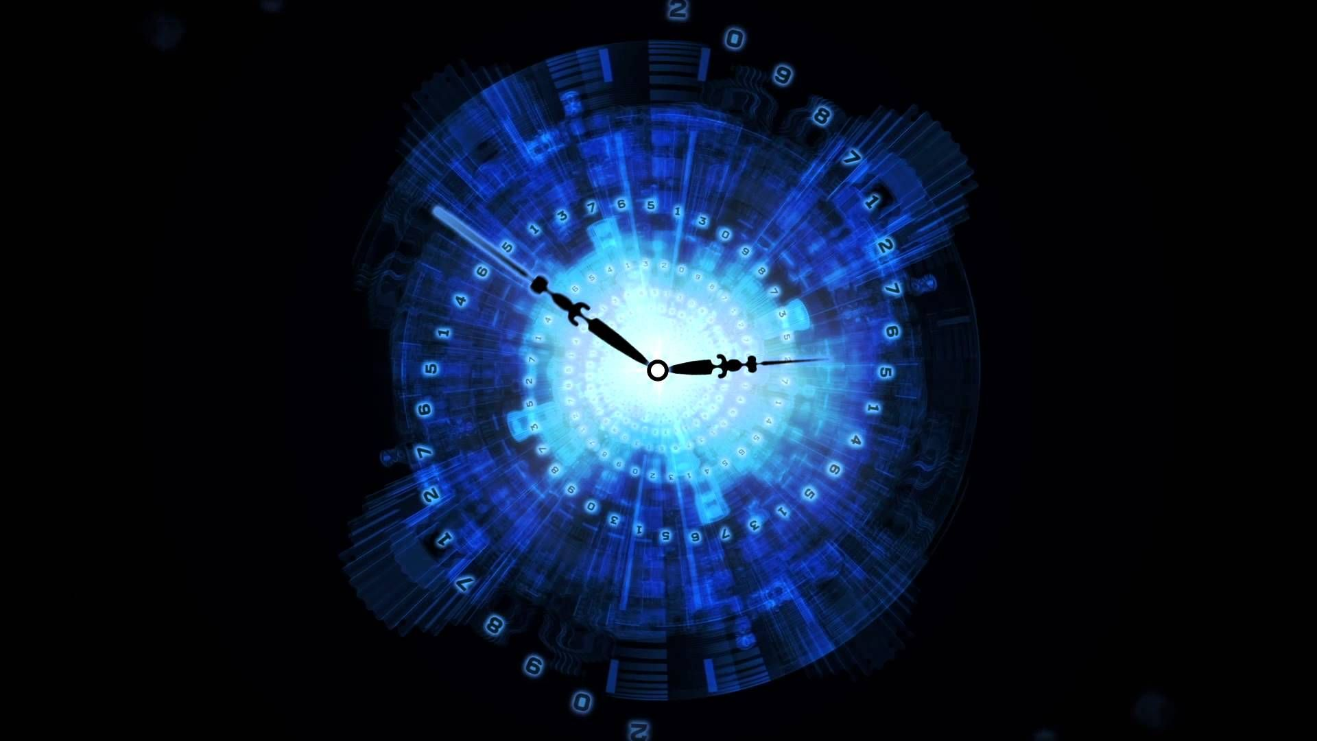 After Effects Lightwave 3d Abstract Clock Animated Background Youtube Clock Animation Background Wall Clock