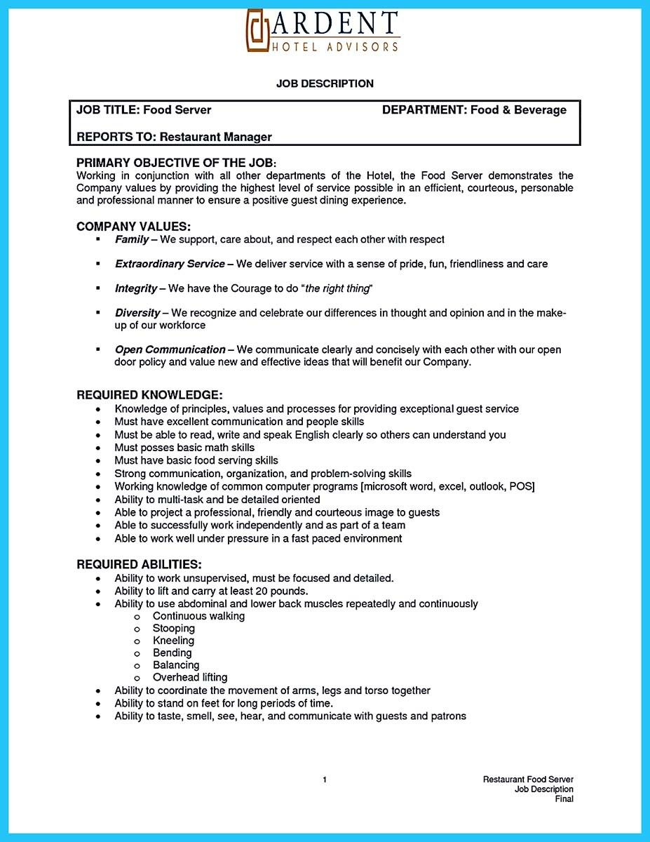 Nice Expert Banquet Server Resume Guides You Definitely Need Check More At Http Snefci Org Expert Banquet Server Resume Guides Definitely Need