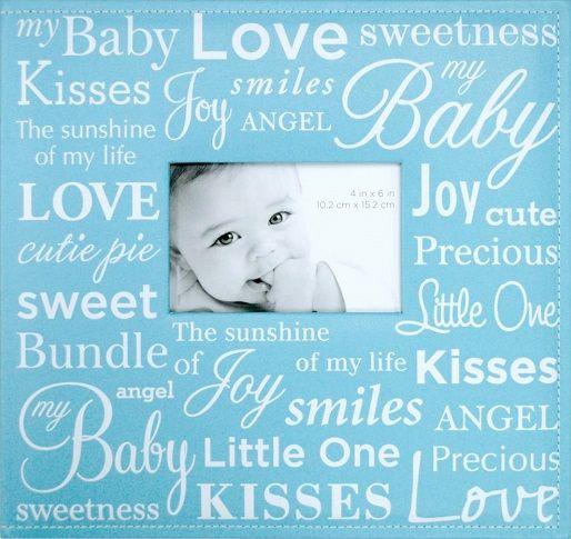 Baby Boy 12x12 Scrapbook Album With Photo Window Scrapbooking