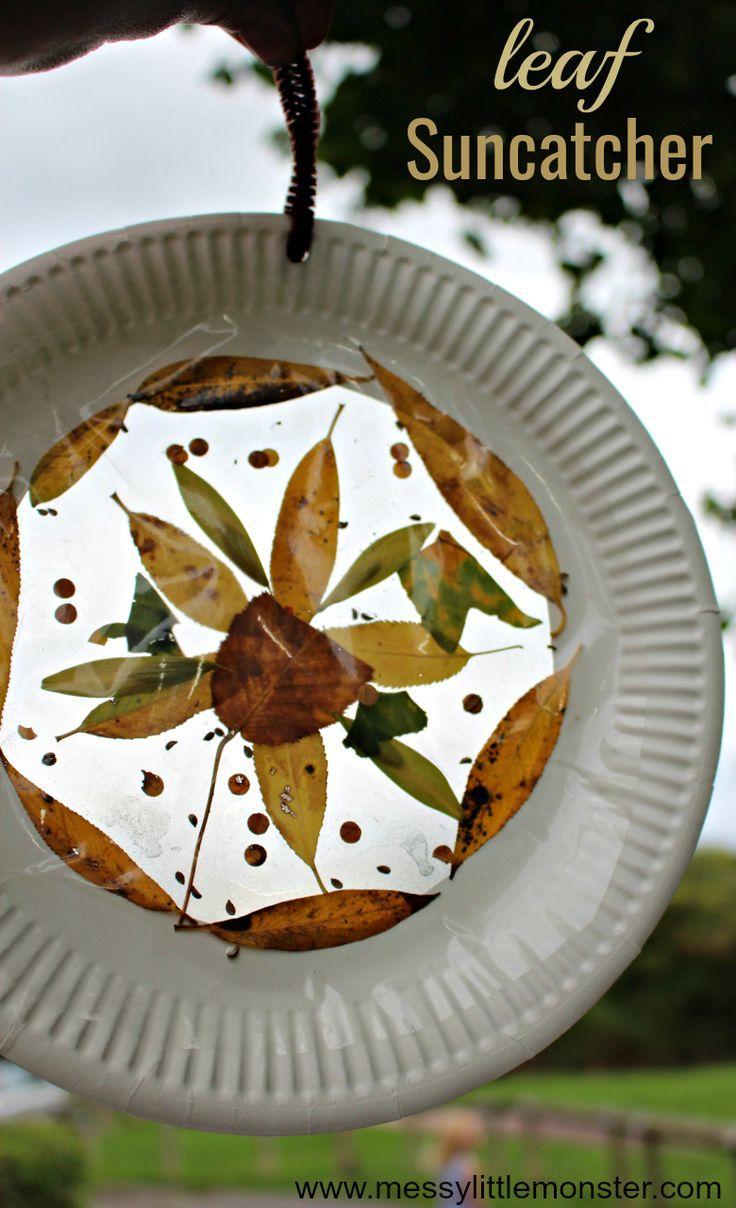 Leaf Suncatcher Craft - Easy Autumn Crafts for Kids