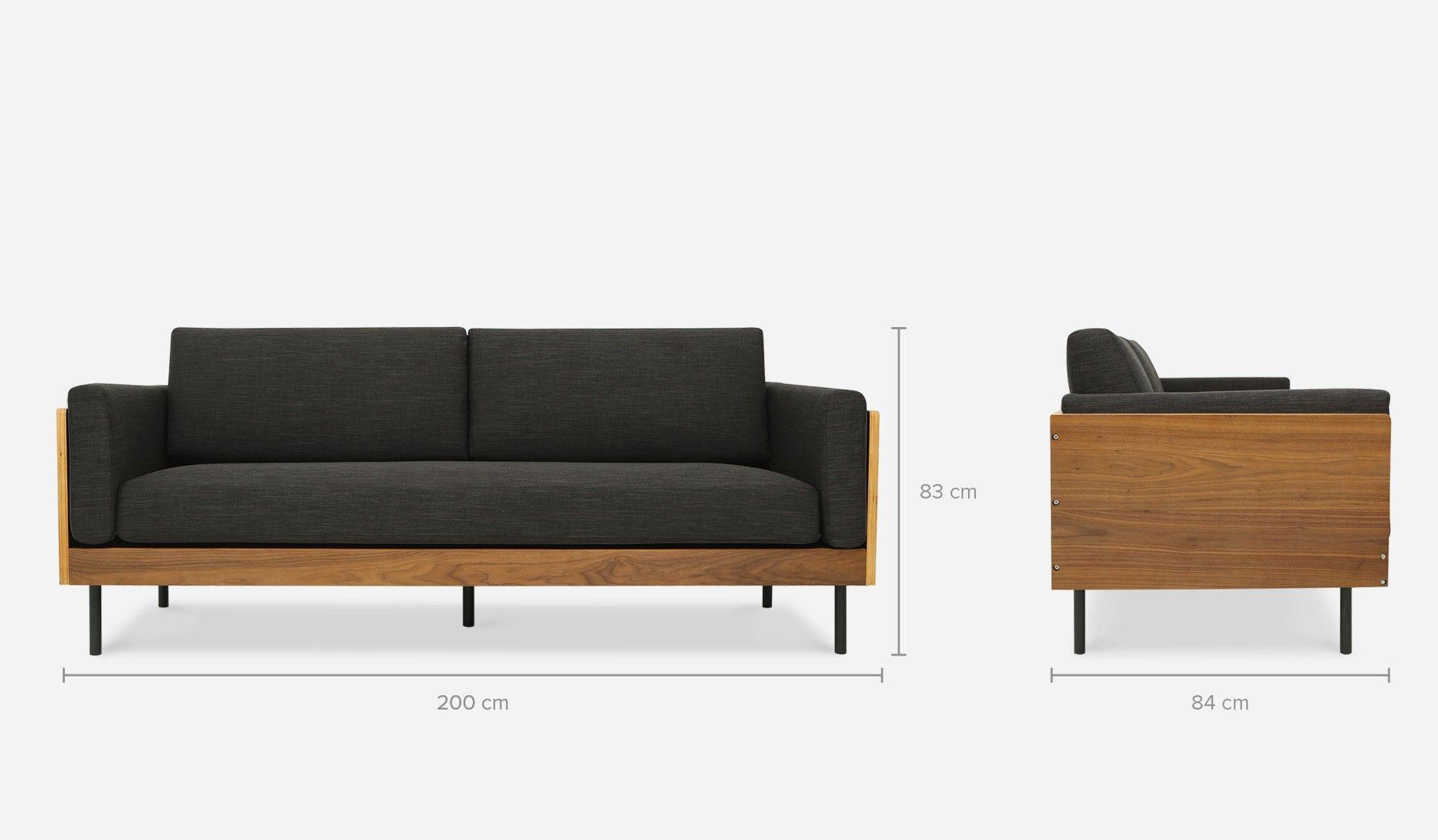 William Sofa Dark Gray Sofas Loveseats All Living Room