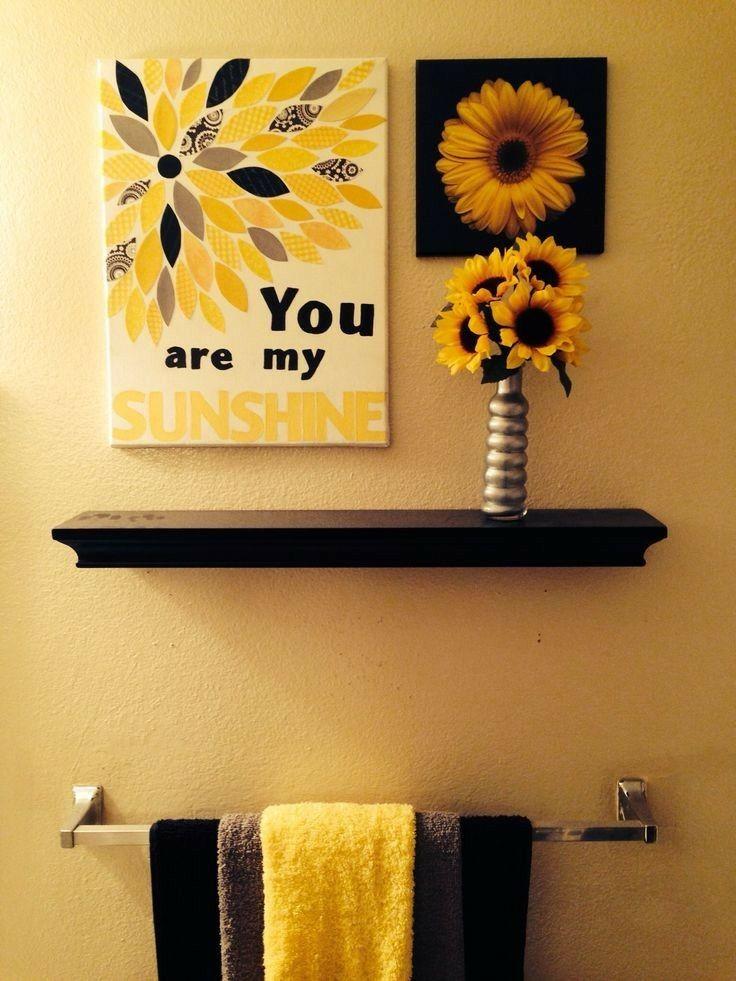 Sunflower bathroom | Home | Pinterest