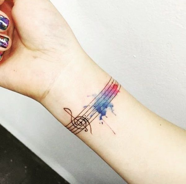 Music Tattoos For Guys Notes Instruments Lyrics Tattoo Ideas
